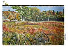 Carry-all Pouch featuring the painting A Prairie Treasure by Marilyn  McNish