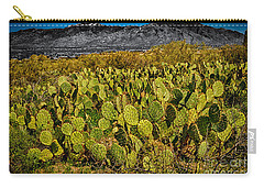 Carry-all Pouch featuring the photograph A Prickly Pear View by Mark Myhaver