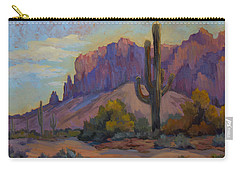 A Proud Saguaro At Superstition Mountain Carry-all Pouch