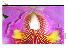 A Purple Cattelaya  Orchid Carry-all Pouch