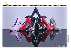 Carry-all Pouch featuring the photograph A Pyramid Of Shoes by Terri Waters