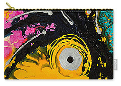 A Rare Bird - Tropical Parrot Art By Sharon Cummings Carry-all Pouch by Sharon Cummings
