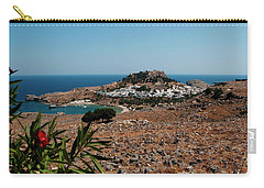 A Red Flower To Lindos Carry-all Pouch by Lorraine Devon Wilke