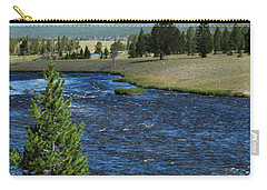 A River Runs Through Yellowstone Carry-all Pouch by Laurel Powell