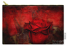 A Rose For You Carry-all Pouch by Kaye Menner