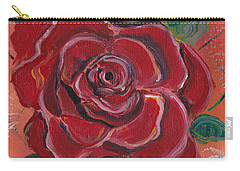A Rose Is A Rose Carry-all Pouch by John Keaton