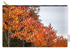A Row Of Autumn Trees Carry-all Pouch