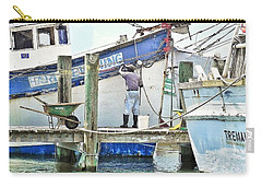 A Shrimper's Work Is Never Done Carry-all Pouch