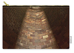 Carry-all Pouch featuring the photograph A Silo Of Light From Above by Jerry Cowart