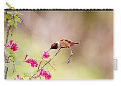 Carry-all Pouch featuring the photograph A Sit Down Dinner by Peggy Collins