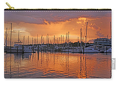 Carry-all Pouch featuring the photograph A Sky Full Of Wonder - Florida Sunset by HH Photography of Florida