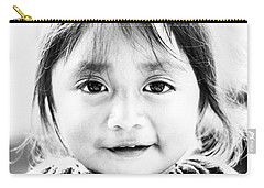 A Small Guatemalam Life - Black And White Carry-all Pouch by Shelby  Young