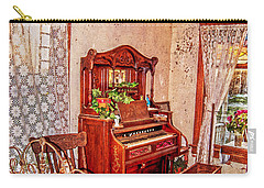 Carry-all Pouch featuring the photograph A Small House In Town by Judy Hall-Folde