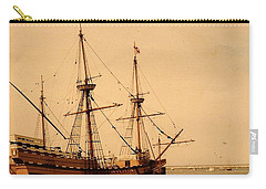 Carry-all Pouch featuring the photograph A Small Old Clipper Ship by Amazing Photographs AKA Christian Wilson