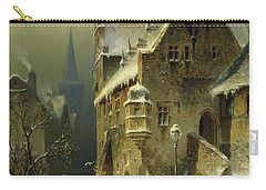 A Small Town In The Rhine Carry-all Pouch by August Schlieker