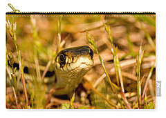 Carry-all Pouch featuring the photograph A Snake In The Grass by Peggy Collins