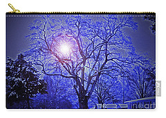 A Snow Glow Evening Carry-all Pouch by Lydia Holly