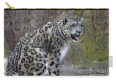 A Snow Leopards Tongue Carry-all Pouch by David Millenheft
