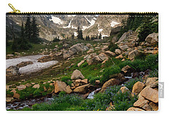 Carry-all Pouch featuring the photograph A Stream Runs Through It by Ronda Kimbrow