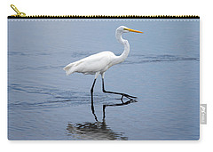 Carry-all Pouch featuring the photograph A Stroll In The Marsh by John M Bailey