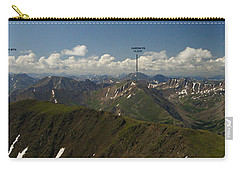 A Summit View Panorama With Peak Labels Carry-all Pouch