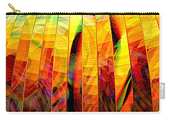 Carry-all Pouch featuring the digital art A Sunny Autumn Day  by Andreas Thust