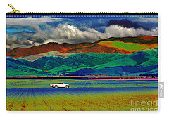 Carry-all Pouch featuring the photograph A Surreal Ride by Susan Wiedmann