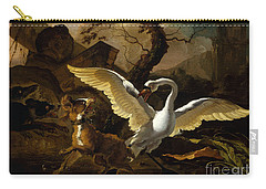 A Swan Enraged By Hondius Carry-all Pouch
