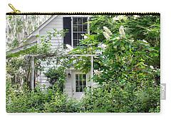 A Swell Side Entrance With Oakleaf Hydrangea Carry-all Pouch