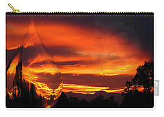 Carry-all Pouch featuring the digital art A Teardrop In Time by Joyce Dickens