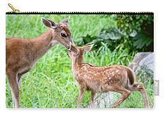 Carry-all Pouch featuring the photograph A Tender Moment by Peggy Collins
