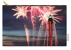 A Three Burst Salvo Of Fire For The Fourth Of July Carry-all Pouch