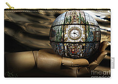 Carry-all Pouch featuring the digital art A Times Droplet Meditation by Rosa Cobos