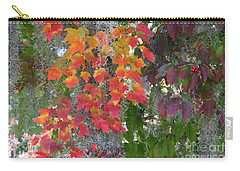 Carry-all Pouch featuring the digital art A Touch Of Autumn by Mariarosa Rockefeller