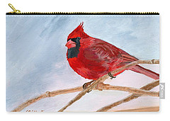 Carry-all Pouch featuring the painting A Touch Of Red by Lynne Reichhart