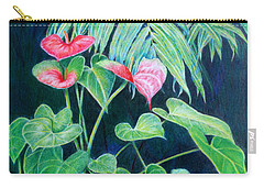 Carry-all Pouch featuring the painting A Touch Of Red by Mariarosa Rockefeller