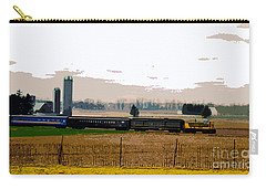 Carry-all Pouch featuring the photograph A Train Runs Through It by Nina Silver