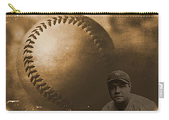 A Tribute To Babe Ruth And Baseball Carry-all Pouch by Dan Sproul