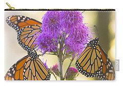 A Trio Of Monarchs Carry-all Pouch