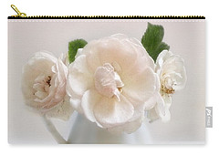 A Trio Of Pale Pink Vintage Roses Carry-all Pouch
