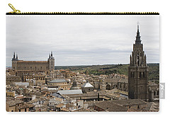 A View From The Iglesia De San Ildefonso  Carry-all Pouch by Lorraine Devon Wilke