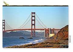 Carry-all Pouch featuring the photograph A View Of The Golden Gate Bridge From Baker's Beach  by Jim Fitzpatrick