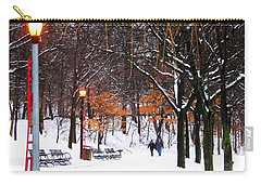 Carry-all Pouch featuring the photograph A Walk By The Lake After The Storm by Dora Sofia Caputo Photographic Art and Design