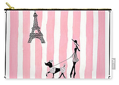 A Walk In Paris Carry-all Pouch by Stephanie Grant