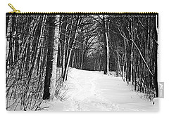 A Walk In Snow Carry-all Pouch by Joe Faherty