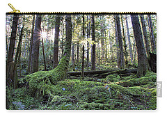 Carry-all Pouch featuring the photograph A Walk In The Forest by Peggy Collins