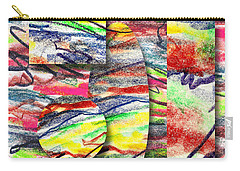 Carry-all Pouch featuring the drawing A Walk In The Park  by Peter Piatt