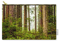 Carry-all Pouch featuring the photograph A Walk Inthe Forest by Ken Stanback