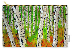 A Walk Though The Trees Carry-all Pouch by Jackie Carpenter