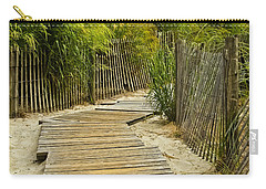 A Walk To The Beach Carry-all Pouch by Colleen Kammerer